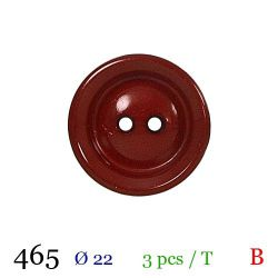 Tube 3 boutons rouge Ø 22mm