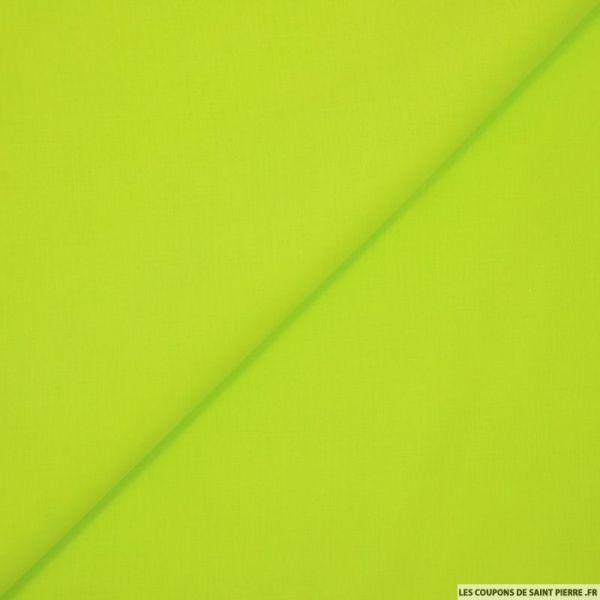 Batiste de coton vert anis