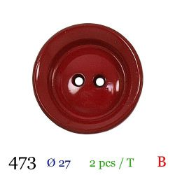 Tube 2 boutons rouges Ø 27mm