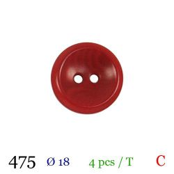 Tube 4 boutons rouges Ø 18mm