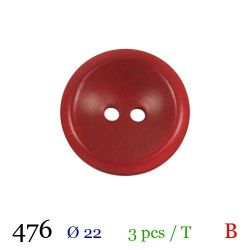 Tube 3 boutons rouges Ø 22mm
