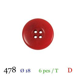 Tube 6 boutons rouges Ø 18mm