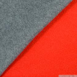 Caban gris contrecollé rouge