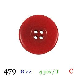 Tube 4 boutons rouges Ø 22mm