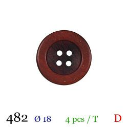Tube 4 boutons rouge Ø 18mm
