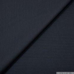 Piqué de laine mélangée marine