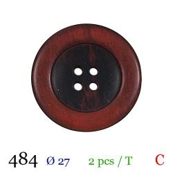 Tube 2 boutons rouge Ø 27mm