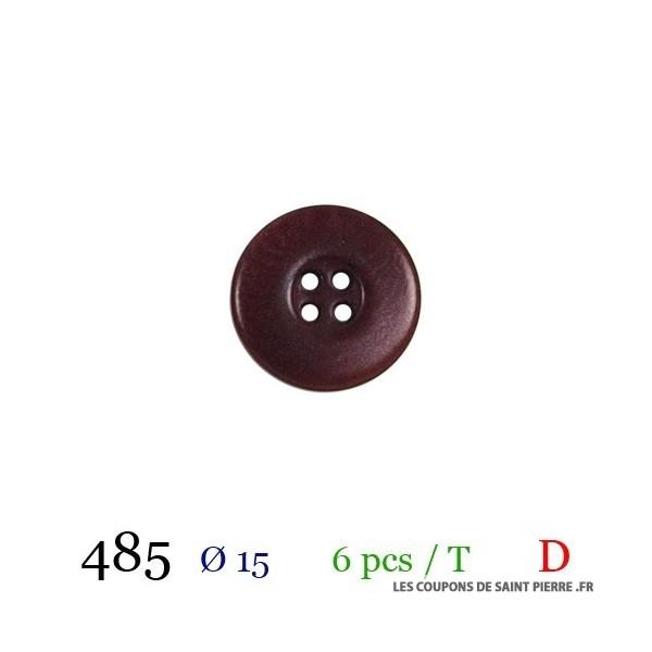 Tube 6 boutons Ø 15mm