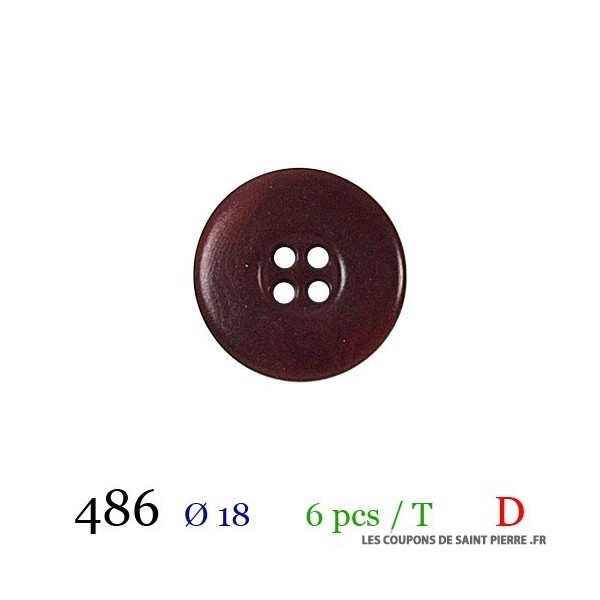 Tube 6 boutons Ø 18mm