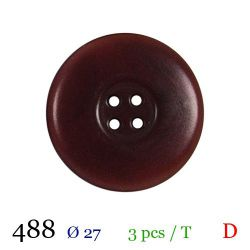 Tube 3 boutons bordeaux Ø 27mm