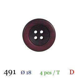 Tube 4 boutons bordeaux Ø 18mm