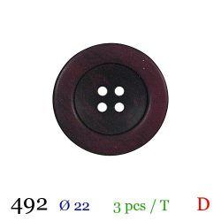 Tube 3 boutons bordeaux Ø 22mm