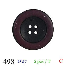 Tube 2 boutons bordeaux Ø 27mm