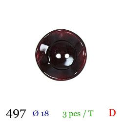 Tube 3 boutons bordeaux Ø 18mm