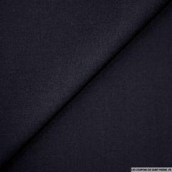 Coton uni bleu nuit