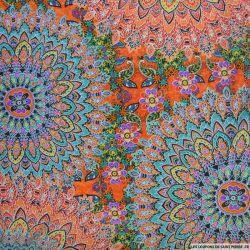 Maille maillot de bain imprimé kaléidoscope corail