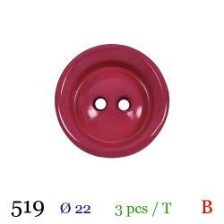 Tube 3 boutons fushia Ø 22mm