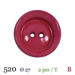 Tube 2 boutons fushia Ø 27mm