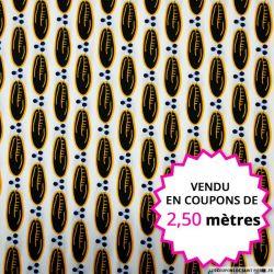 Wax africain fève de cacao, vendu en coupon de 2,50 mètres
