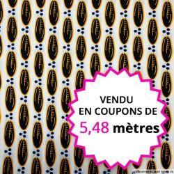 Wax africain fève de cacao, vendu en coupon de 5,48 mètres