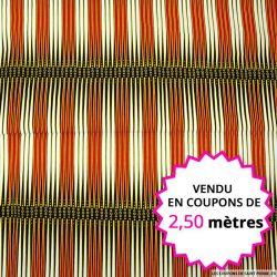 Wax africain backgammon, vendu en coupon de 2,50 mètres