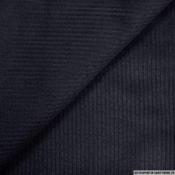 Velours côtelé coton marine