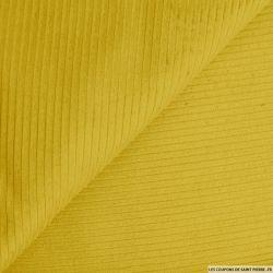 Velours côtelé coton moutarde