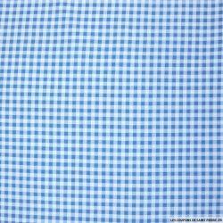 Coton imprimé à carreaux bleu