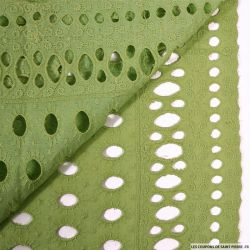 Broderie anglaise soleil vert anis