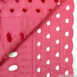 Broderie anglaise totem fuchsia