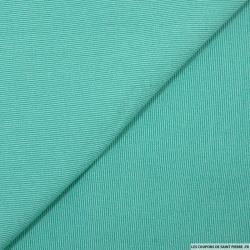 Crêpe polyviscose rayé vert d'eau