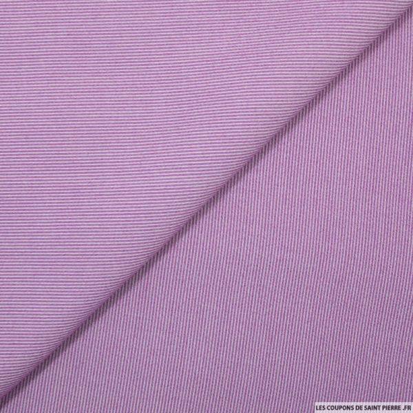Crêpe polyviscose rayé violet