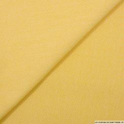 Crêpe polyviscose rayé jaune