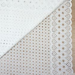 Broderie anglaise cyclope blanc