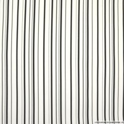Gabardine de coton elasthane double rayures noir