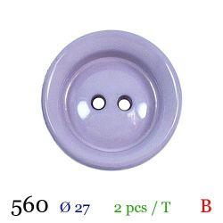 Tube 2 boutons mauve Ø 27mm