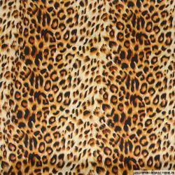Satin polyester imprimé safari