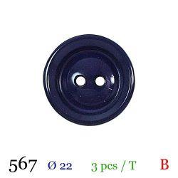 Tube 3 boutons violet Ø 22mm
