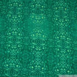 Viscose imprimé totem caché vert