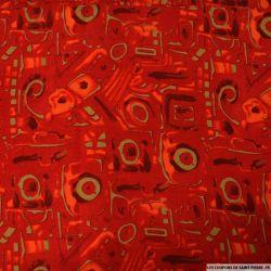 Viscose imprimé lueur de nuit rouge