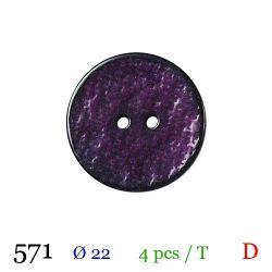 Tube 4 boutons violet Ø 22mm