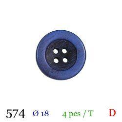 Tube 4 boutons violet Ø 18mm