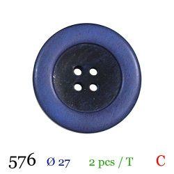 Tube 2 boutons violet Ø 27mm