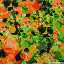 Microfibre imprimée éclat de verre orange