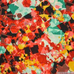 Microfibre imprimée éclat de verre rouge