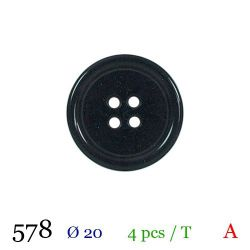 Tube 4 boutons marine Ø 20mm