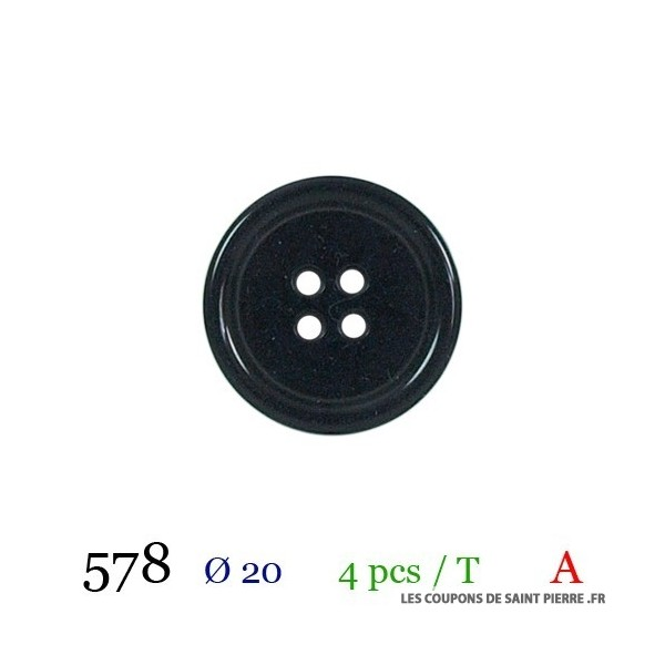 Tube 4 boutons Ø 20mm