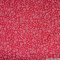 Viscose imprimé carré d'air rouge