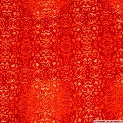 Viscose imprimé totem caché rouge