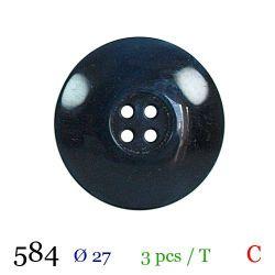 Tube 3 boutons marine Ø 27mm
